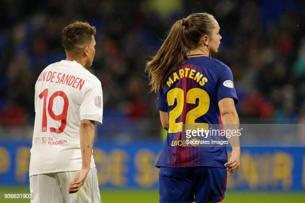Shanice van de Sanden of Olympique Lyon Women Lieke Martens of FC Barcelona Women during the match between Olympique Lyon Women v FC Barcelona Women...