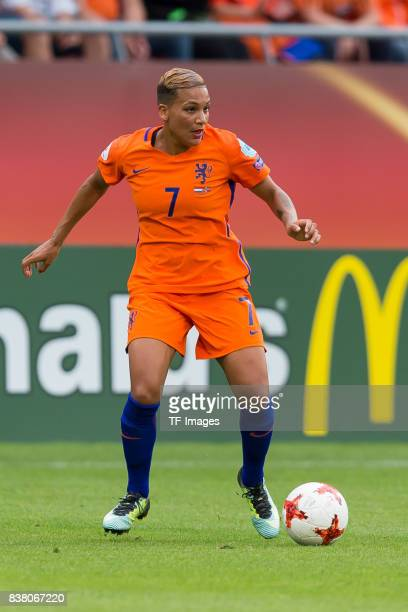 Shanice van de Sanden of the Netherlands controls the ball during their Group A match between Netherlands and Norway during the UEFA Women's Euro...