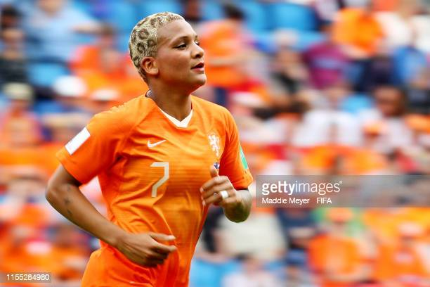 Shanice van de Sanden of the Netherlands looks on during the 2019 FIFA Women's World Cup France group E match between New Zealand and Netherlands at...