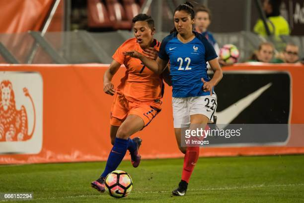 Shanice van de Sanden of the Netherlands Sakina Karchaoui of Franceduring the friendly match between the women of Netherlands and France at the...