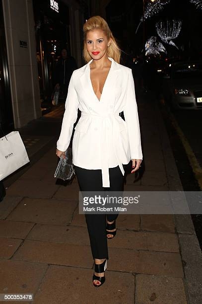 Shanie Ryan attending the Metro's Guilty Pleasures Christmas Party on December 7 2015 in London England