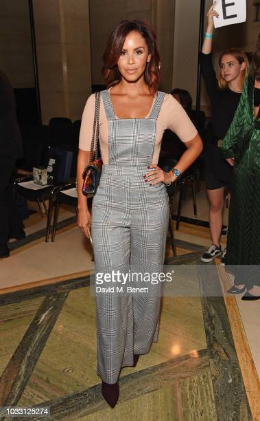 Shanie Ryan attends the Pam Hogg front row during London Fashion Week September 2018 at The Freemason's Hall on September 14 2018 in London England