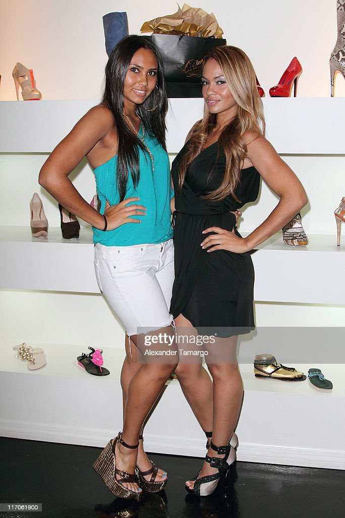 Shaniece Lozada and Evelyn Lozada are seen at Dulce Shoe Boutique on May 6, 2010 in Coral Gables, Florida.