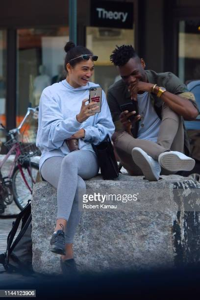 Shanina Shaik and boyfriend DJ Ruckus seen out and about in Manhattan on May 16 2019 in New York City