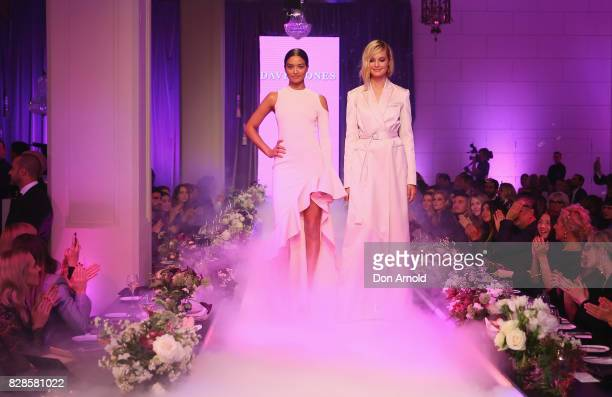 Shanina Shaik and Bridget Malcolm showcase designs during the David Jones Spring Summer 2017 Collections Launch at David Jones Elizabeth Street Store...