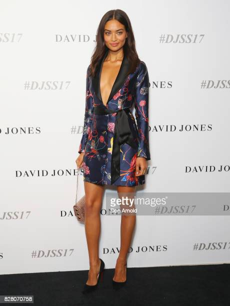 Shanina Shaik arrives ahead of the David Jones Spring Summer 2017 Collections Launch at David Jones Elizabeth Street Store on August 9 2017 in Sydney...