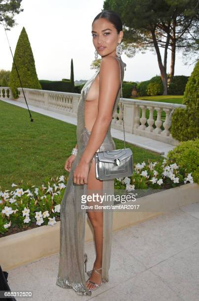 Shanina Shaik arrives at the amfAR Gala Cannes 2017 at Hotel du CapEdenRoc on May 25 2017 in Cap d'Antibes France