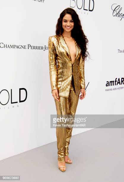 Shanina Shaik arrives at the amfAR Gala Cannes 2018 at Hotel du CapEdenRoc on May 17 2018 in Cap d'Antibes France