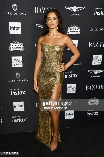 Shanina Shaik attends as Harper's BAZAAR Celebrates ICONS By Carine Roitfeld at the Plaza Hotel on September 7 2018 in New York City