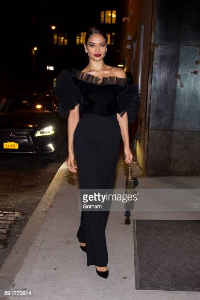 Shanina Shaik attends CR Girls 2018 with Technogym at Spring Studios in Tribeca on December 12 2017 in New York City