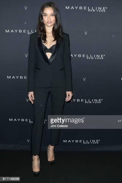 Shanina Shaik attends Maybelline New York and V Magazine host New York Fashion Week Party at Nomo Soho Hotel on February 11 2018 in New York City