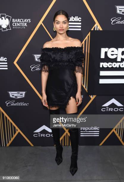 Shanina Shaik attends Republic Records Celebrates the GRAMMY Awards in Partnership with Cadillac Ciroc and Barclays Center at Cadillac House on...