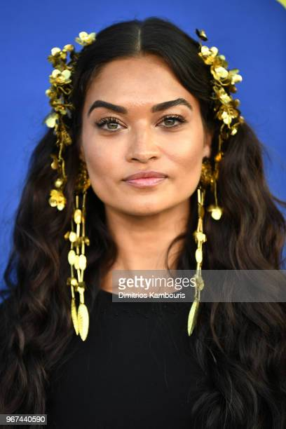 Shanina Shaik attends the 2018 CFDA Fashion Awards at Brooklyn Museum on June 4 2018 in New York City