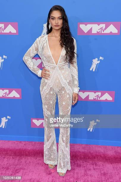 Shanina Shaik attends the 2018 MTV Video Music Awards at Radio City Music Hall on August 20 2018 in New York City