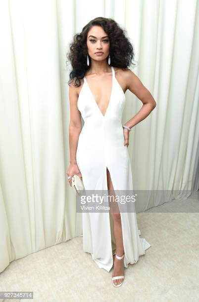 Shanina Shaik attends the 26th annual Elton John AIDS Foundation Academy Awards Viewing Party with cocktails by Clase Azul Tequila at The City of...