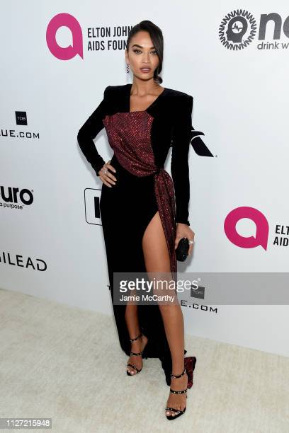 Shanina Shaik attends the 27th annual Elton John AIDS Foundation Academy Awards Viewing Party sponsored by IMDb and Neuro Drinks celebrating EJAF and...