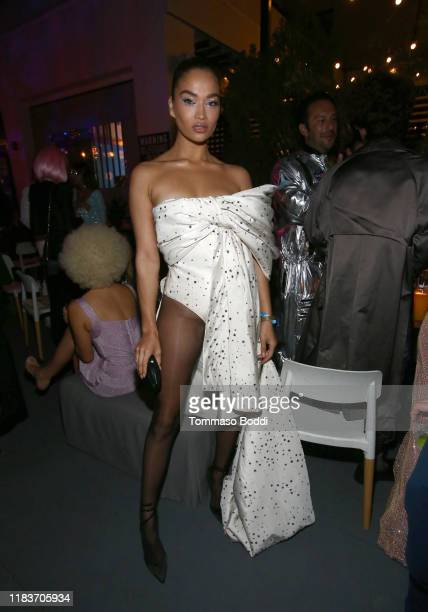 Shanina Shaik attends the 7th Annual UNICEF Masquerade Ball 2019 at Kimpton La Peer Hotel on October 26 2019 in West Hollywood California