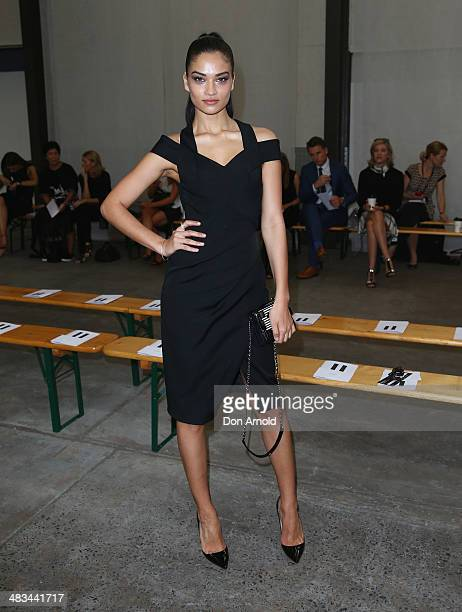 Shanina Shaik attends the Dion Lee show during MercedesBenz Fashion Week Australia 2014 at 7 Danks Street Waterloo on April 9 2014 in Sydney Australia