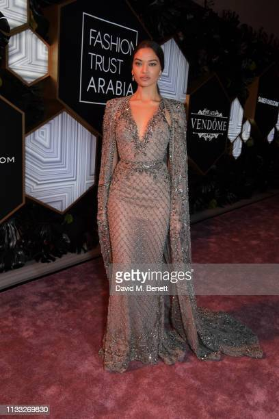 Shanina Shaik attends the Fashion Trust Arabia Prize awards ceremony on March 28 2019 in Doha Qatar