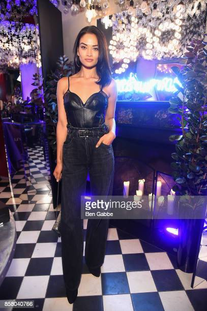Shanina Shaik attends the launch of ghd hair North America Nocturne Holiday Campaign with Olivia Culpo Justine Marjan on October 5 2017 in New York...