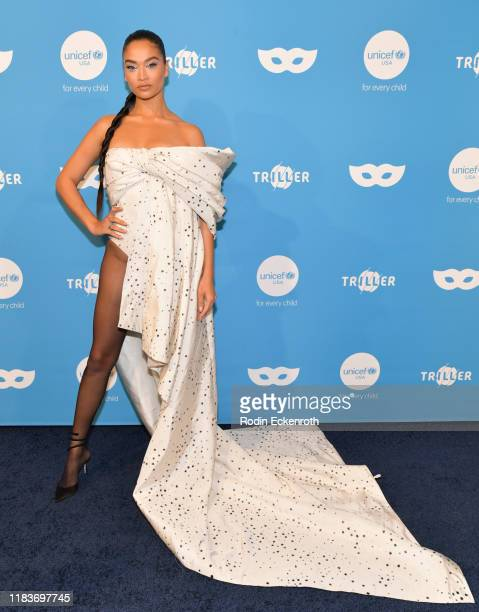 Shanina Shaik attends the UNICEF Masquerade Ball at Kimpton La Peer Hotel on October 26 2019 in West Hollywood California