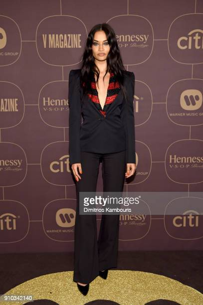 Shanina Shaik attends the Warner Music Group PreGrammy Party in association with V Magazine on January 25 2018 in New York City
