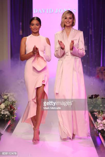 Shanina Shaik in By Johnny and Bridget Malcolm in Bianca Spender walk in the finale of the David Jones Spring Summer 2017 Collections Launch at David...