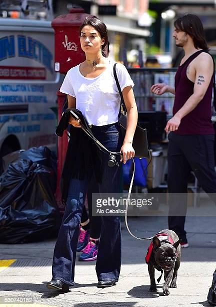 Shanina Shaik is seen in Soho on May 11 2016 in New York City