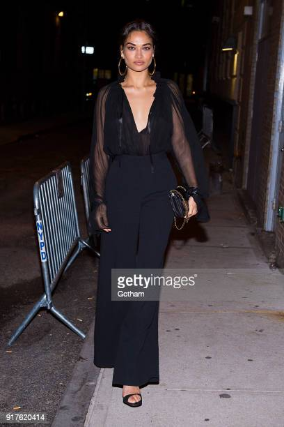 Shanina Shaik is seen in Tribeca on February 12 2018 in New York City