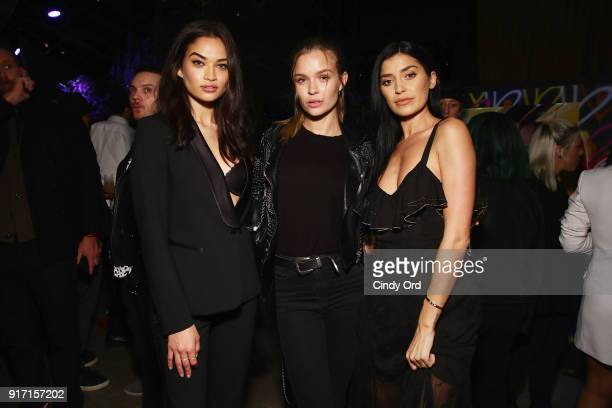 Shanina Shaik Josephine Skriver and Nicole Williams attend the Maybelline New York x V Magazine Party at the Nomo Soho Hotel on February 11 2018 in...
