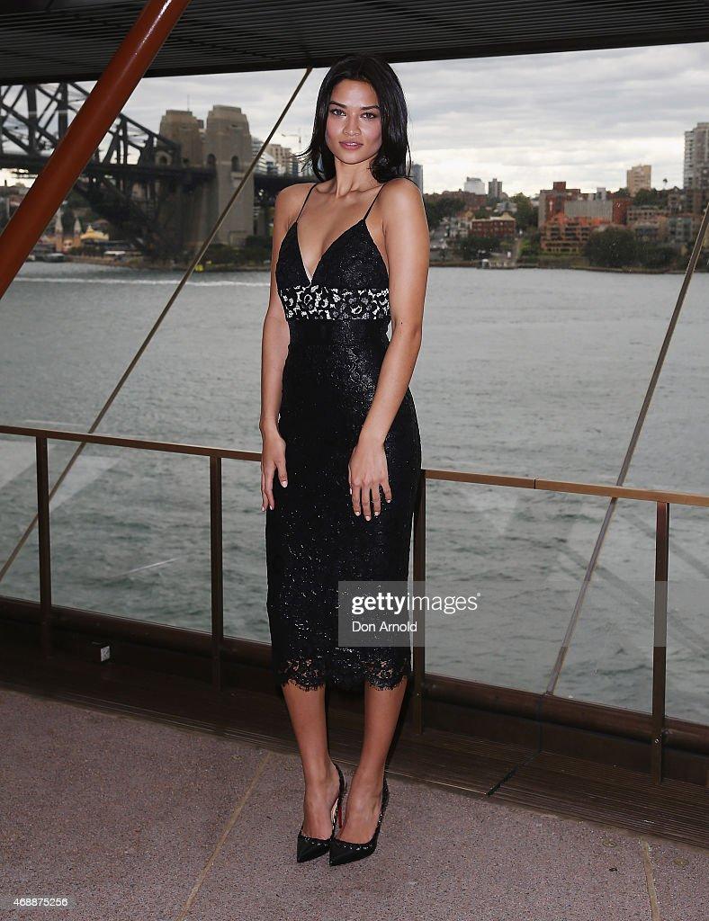 Shanina Shaik poses prior to Carla Zampatti's 50th