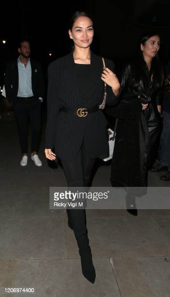 Shanina Shaik seen attending LOVE Magazine party at The Standard during LFW February 2020 on February 17 2020 in London England