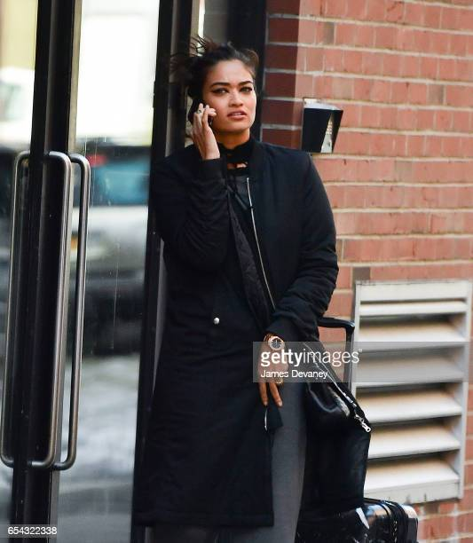 Shanina Shaik seen on the streets of Manhattan on March 16 2017 in New York City