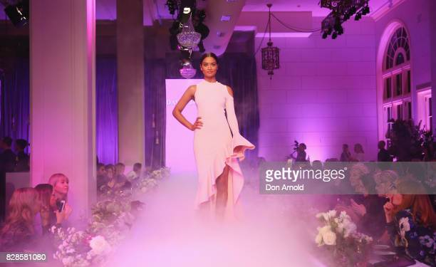 Shanina Shaik showcases designs during the David Jones Spring Summer 2017 Collections Launch at David Jones Elizabeth Street Store on August 9 2017...