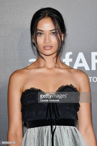 Shanina Shaik walks the red carpet of amfAR Gala Milano on September 21 2017 in Milan Italy