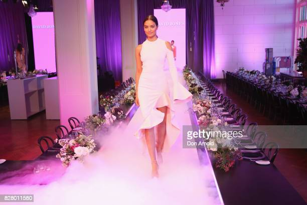 Shanina Shaik walks the runway during rehearsals ahead of the David Jones Spring Summer 2017 Collections Launch at David Jones Elizabeth Street Store...