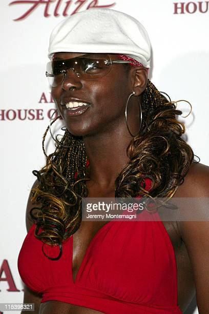 Shaniqua of the WWE during Alize House of Passions Arrivals at Playboy Mansion in Bel Air California United States