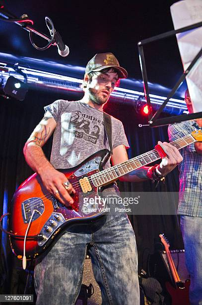 Shanka from No One is Innocent performs at Cafe 114 for Fender Jaguar Kurt Cobain Guitar launch on September 29 2011 in Paris France