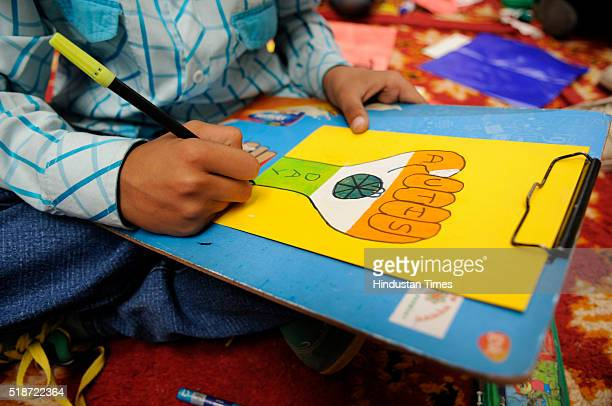 Shankara Special School organizes an art and craft competition to commemorate World Autism Awareness Day at Garden Galleria mall in which 4 Delhi-NCR...