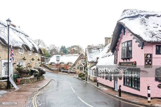 shanklin old village - isle of wight stock photos and pictures