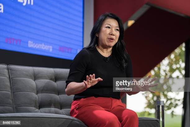 Shan-Lyn Ma, chief executive officer of Zola Inc., speaks during a Bloomberg Technology event in New York, U.S., on Wednesday, Sept. 13, 2017. The...