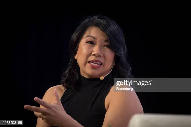 Shan-Lyn Ma, co-founder and chief executive officer of Zola Inc., speaks during TechCrunch Disrupt 2019 in San Francisco, California, U.S., on...