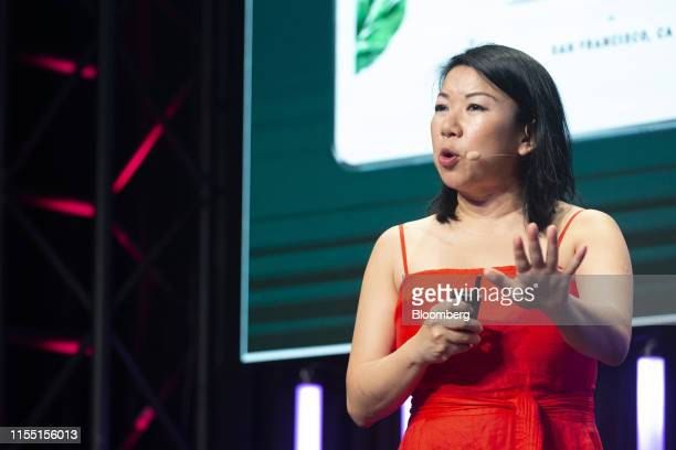 Shan-Lyn Ma, co-founder and chief executive officer of Zola, speaks during the Startupfest event in Montreal, Quebec, Canada, on Thursday, July 11,...