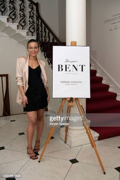 Shanna Bent at the Maison Bent AW20 Presentation at Pushkin House on February 06 2020 in London England
