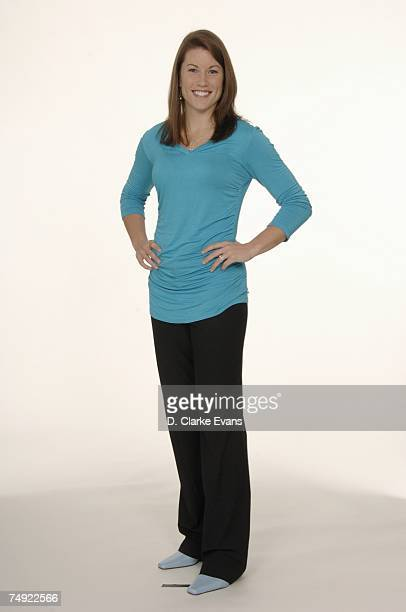 Shanna Crossley of the San Antonio Silver Stars poses during WNBA media day on May 1 2007 at ATT Center in San Antonio Texas NOTE TO USER User...