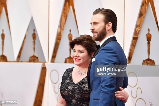 Shanna Evans and actor Chris Evans attend the 89th Annual Academy Awards at Hollywood & Highland Center on February 26, 2017 in Hollywood, California.
