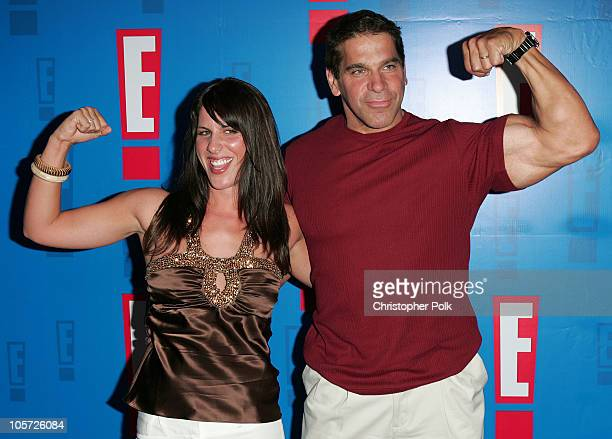 Shanna Ferrigno and Lou Ferrigno during E! Entertainment Television's 2005 Summer Splash Event - Arrivals at Tropicana Bar at the Roosevelt Hotel in...