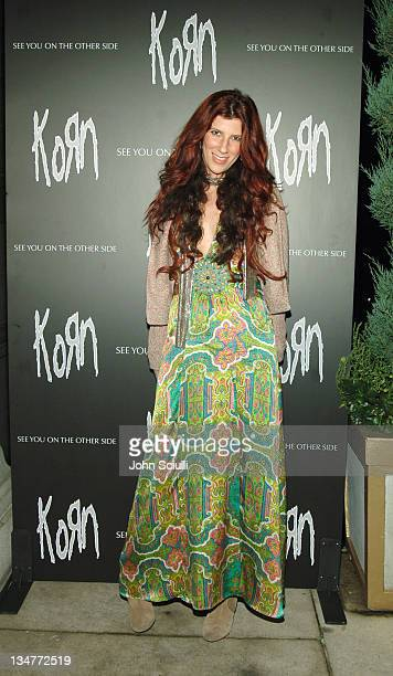 Shanna Halligan of Bitter Sweet during Korn 'See You on the Other Side' Tour Launch Party at Hollywood Forever Cemetery on Friday the 13th at...