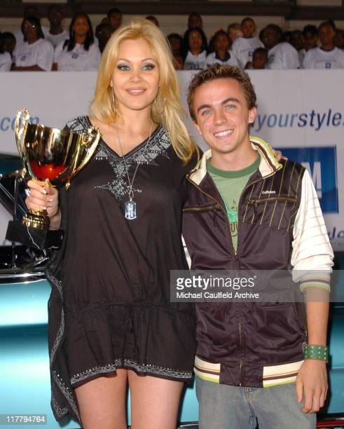Shanna Moakler and Frankie Muniz during 2nd Annual Rollin'24 Deep GM AllCar Showdown Red Carpet at Paramount Studios in Los Angeles California United...