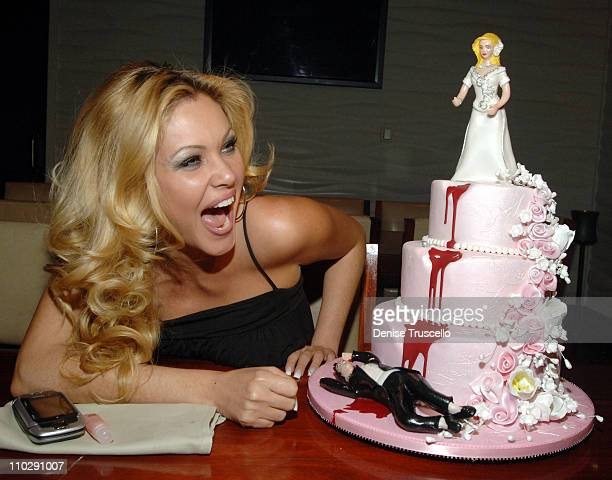 Shanna Moakler with her Divorce Cake during Shanna Moakler's Divorce Party Dinner at FIX Restuarant at The Bellagio Hotel and Casino Resort November...
